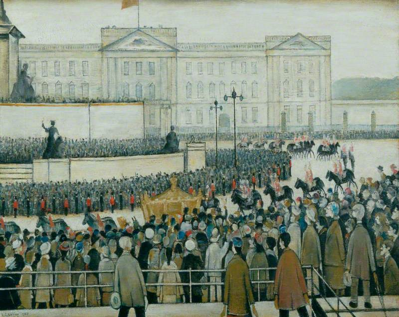 The Procession Passing the Queen Victoria Memorial, Coronation