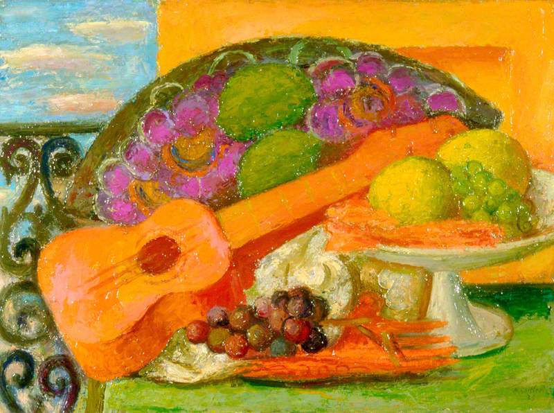 Still Life with Guitar and Fruit