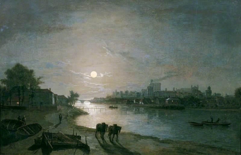 Windsor Castle by Moonlight