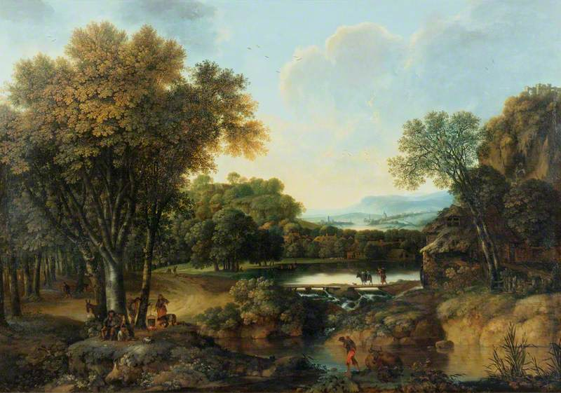 Landscape with a Camp Fire