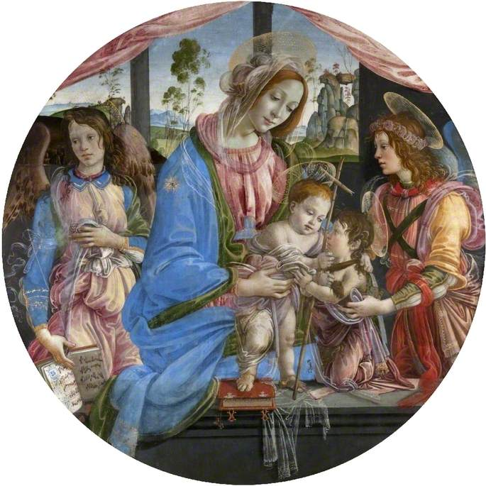 Virgin and Child with the Child Baptist and Two Angels