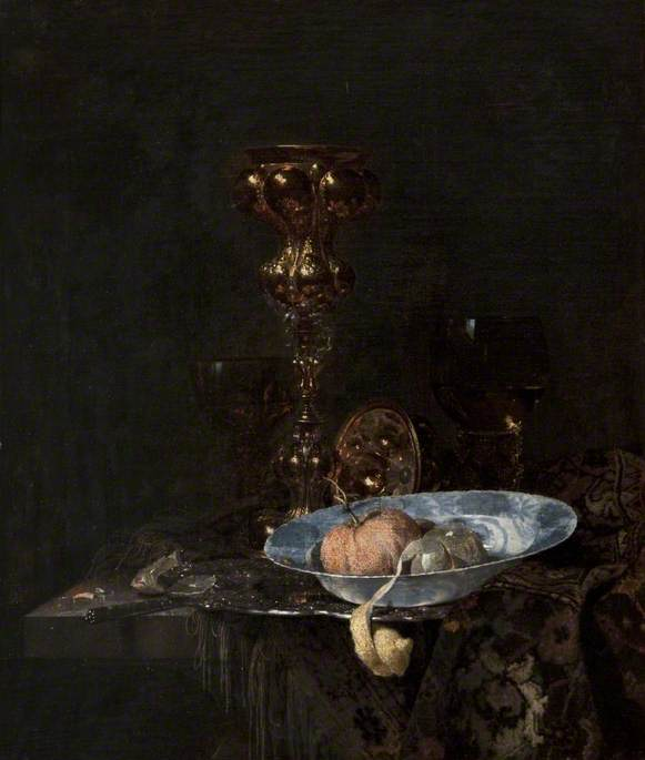 Still Life: Silver-Gilt Goblet and Bowl of Fruit