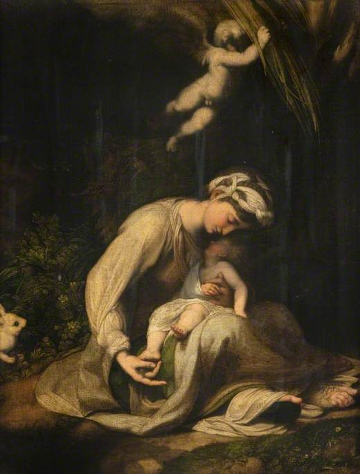 Madonna and Child with a Rabbit