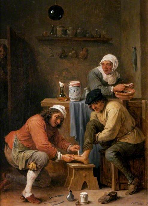 A Surgeon Treating a Peasant's Foot