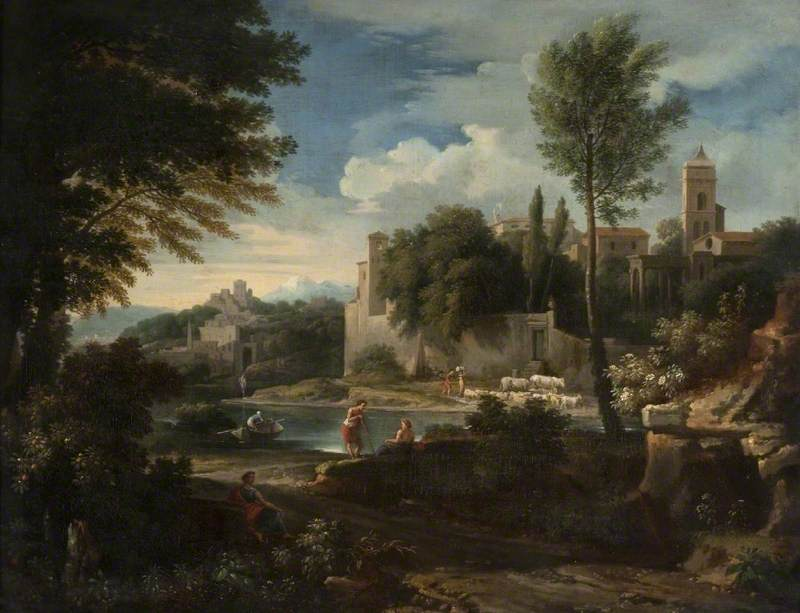 Landscape with a River and a Walled Town