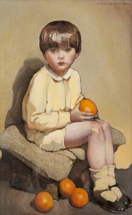 Little Boy with Oranges