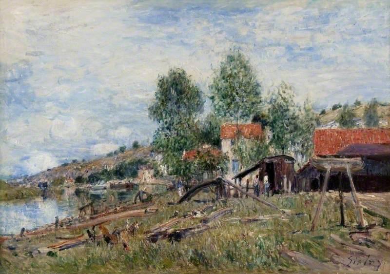 Boatyard at Saint-Mammès