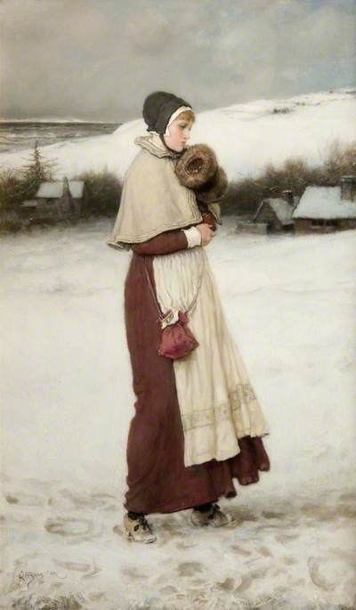 Girl with a Muff, Winter Scene