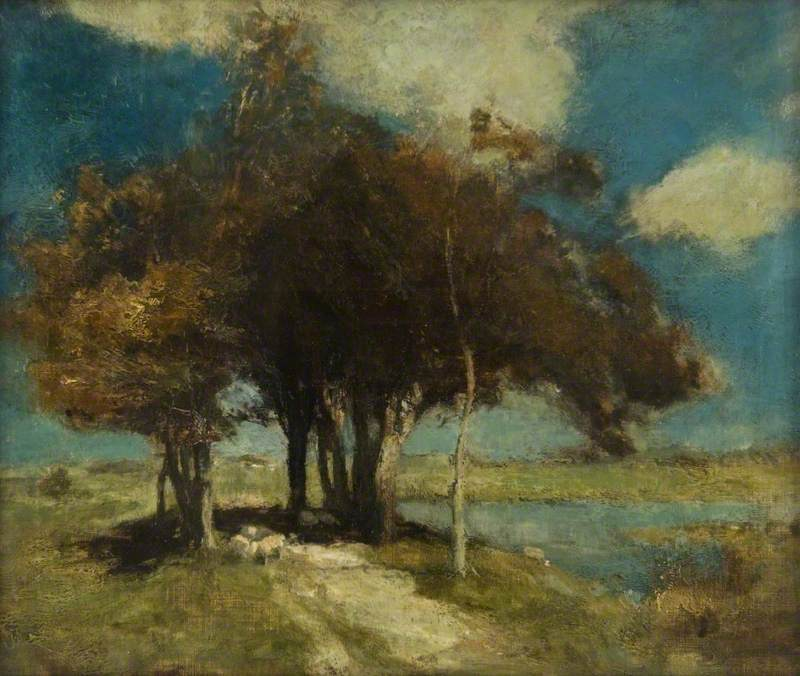 Landscape with Sheep under Trees