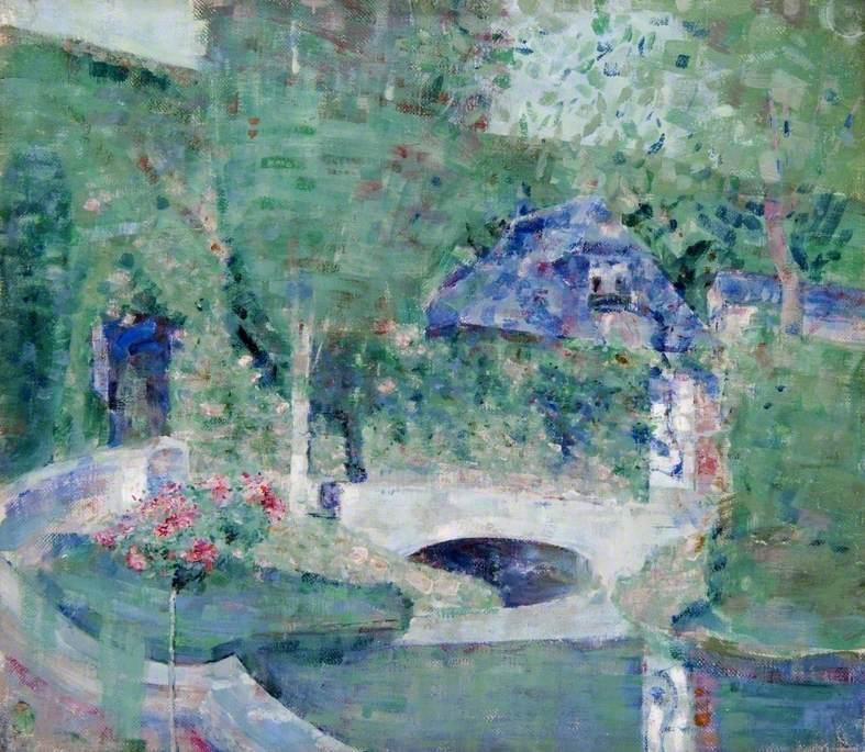Garden and Bridge, Caudebec