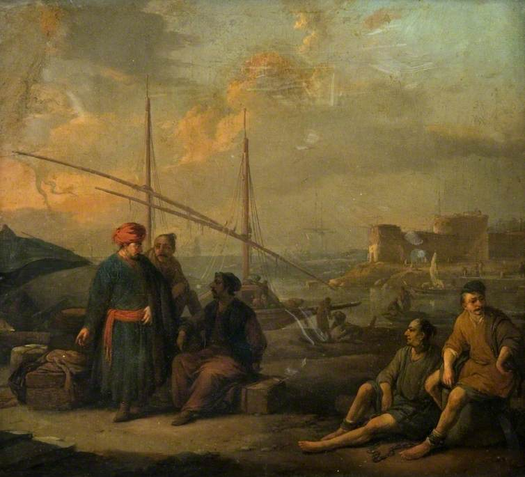 A Harbour, with Figures in Oriental Costume