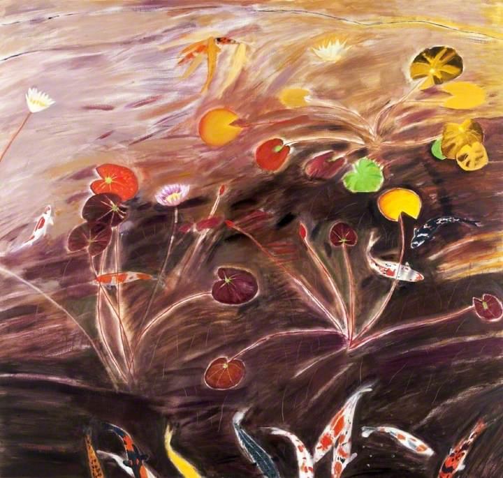 Water Lilies and Koi Carp