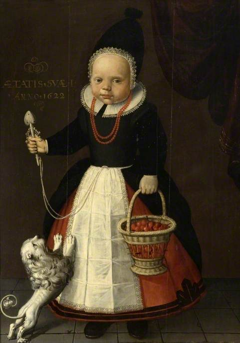Portrait of a Girl, Aged One, with a Basket of Strawberries