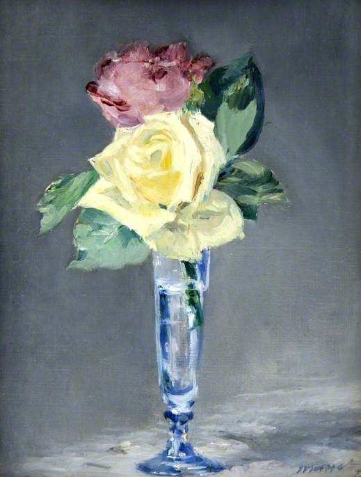 Roses in a Champagne Glass