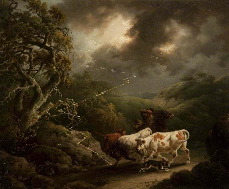 Horseman and Cattle in a Thunderstorm