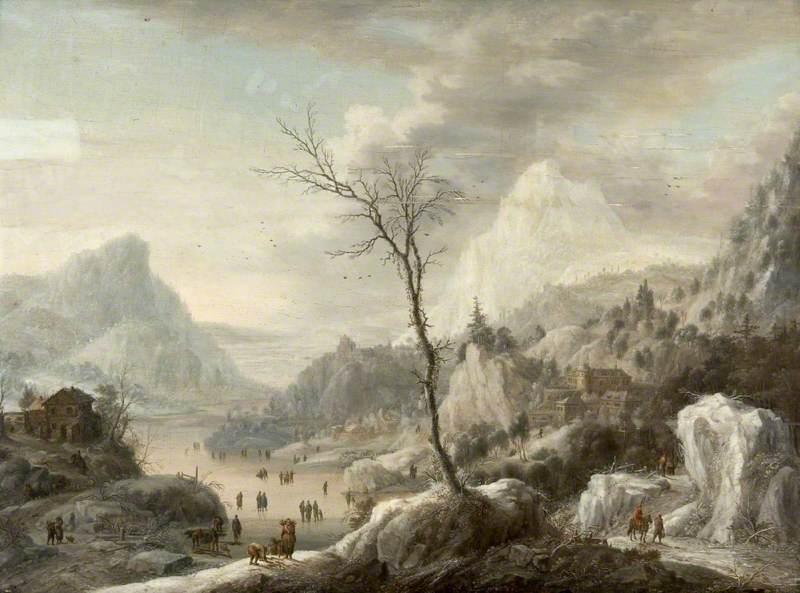 A Mountain Landscape in Winter