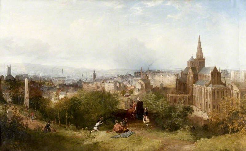 View of Glasgow and the Cathedral