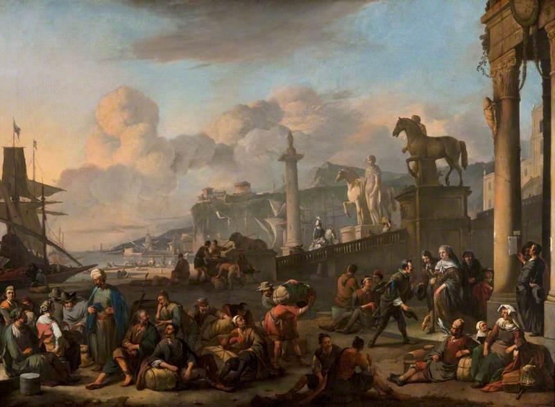 An Imaginary Mediterranean Seaport