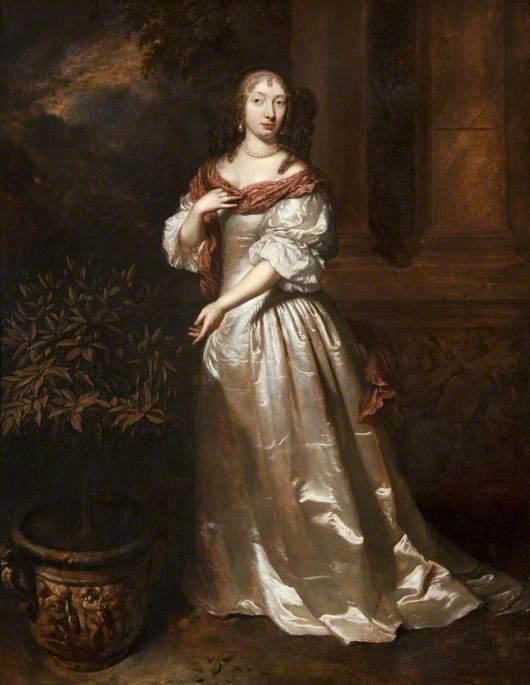 Portrait of a Young Woman by an Orange Tree