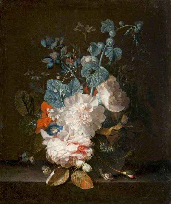 Still Life: Flowers in a Glass Vase