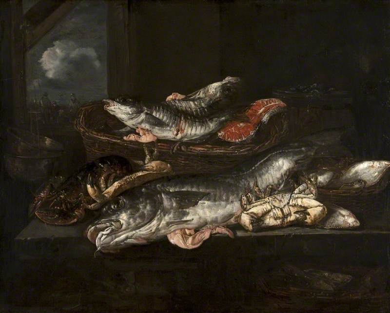 Still Life: Haddock, Plaice, Crabs and Lobster