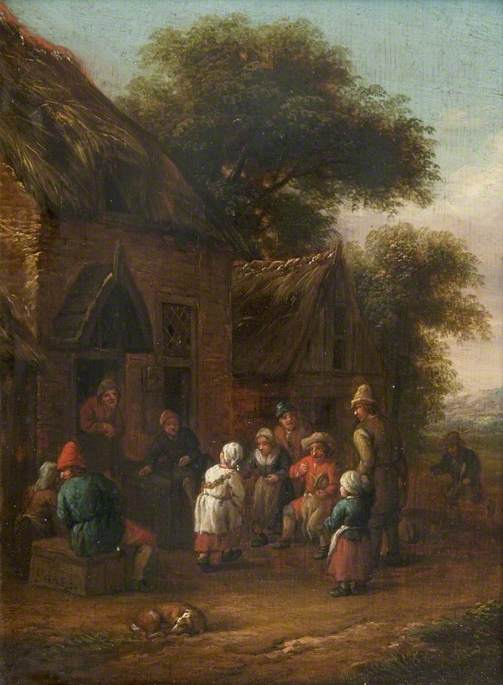 Peasants before a Cottage