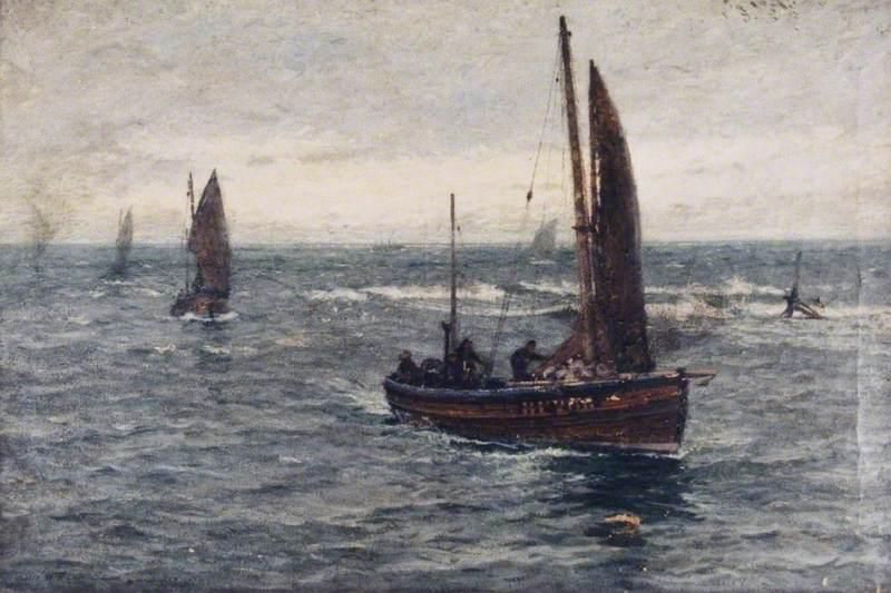 Seascape, Fishing Boats Returning