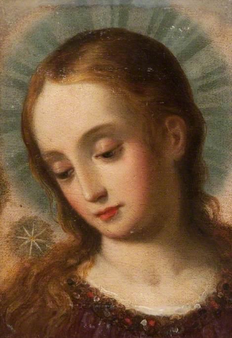 Head of a Female Saint