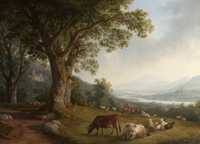 Landscape with Cattle and Goats