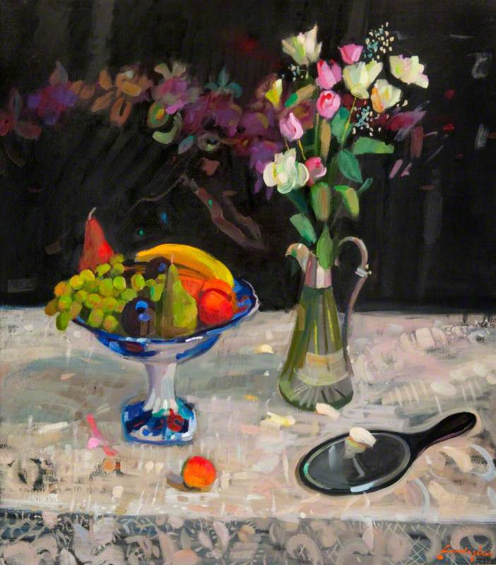 Still Life with Flowers and Table