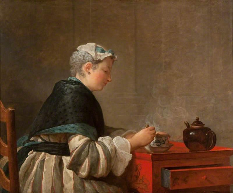 A Lady Taking Tea