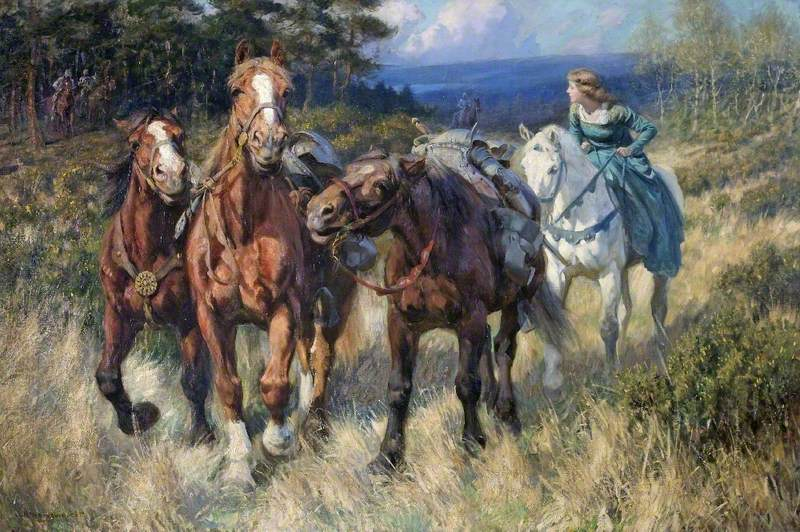 Enid Driving the Robbers' Horses