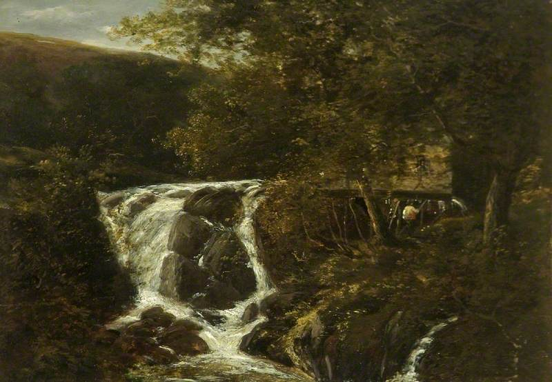Landscape with a Waterfall near Norwich, Norfolk, 1819