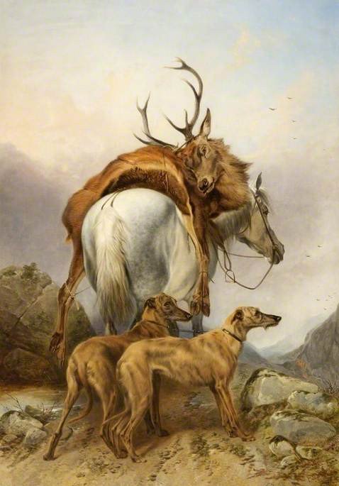A Pony Carrying a Dead Deer