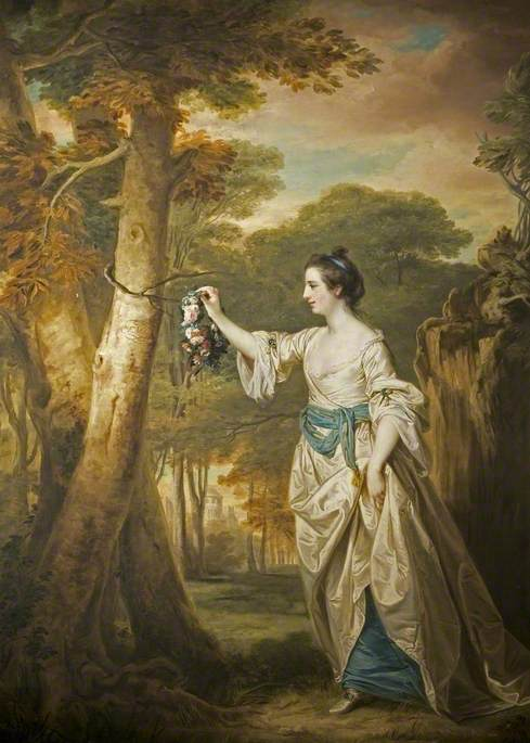 Mary Colby (1745–1774), as 'Emma, the Nut-Brown Maid'