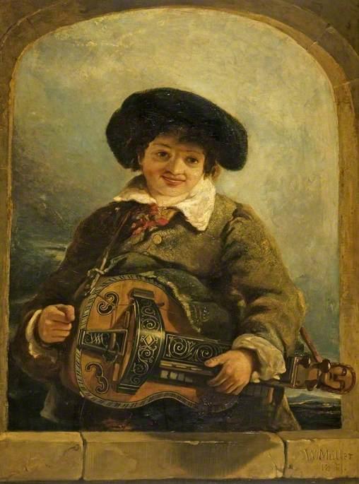 An Italian Boy with a Hurdy-Gurdy