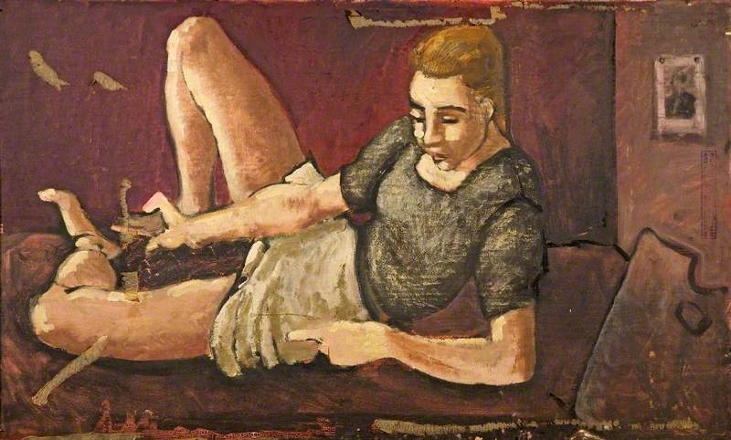 Clothed Woman Sitting