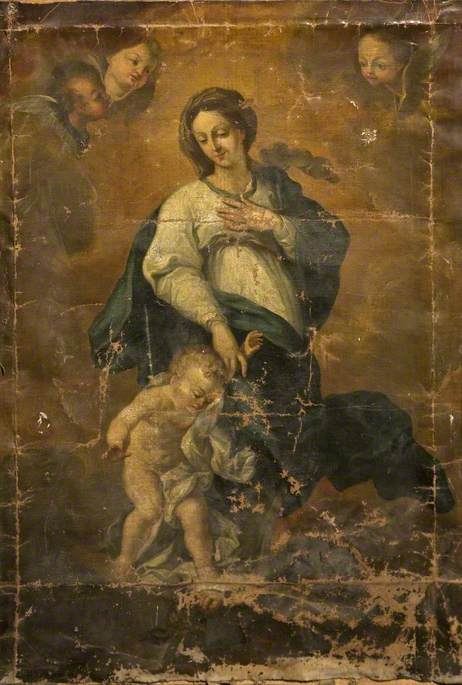 Madonna with the Christ Child Overcoming Satan
