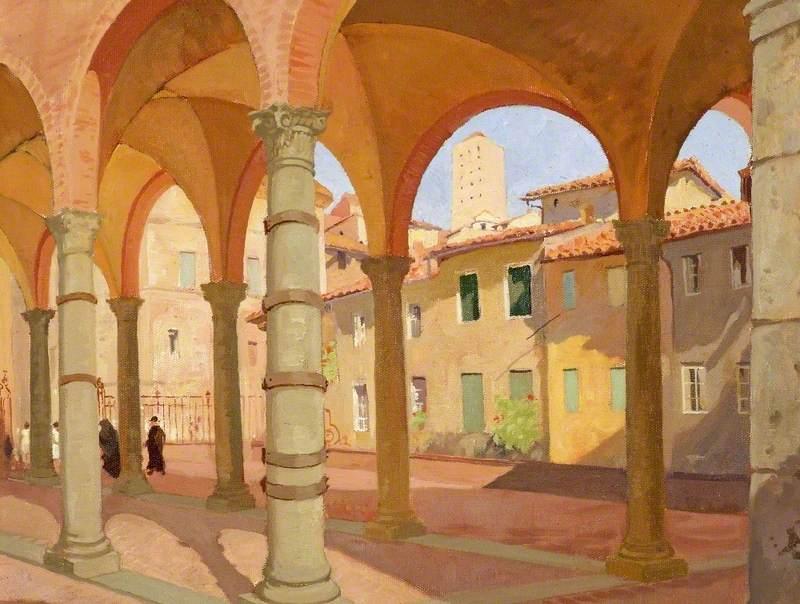 Portico dei Comuni, Siena, Italy