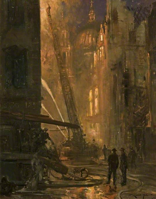 A London Wartime Scene, 1941–1942