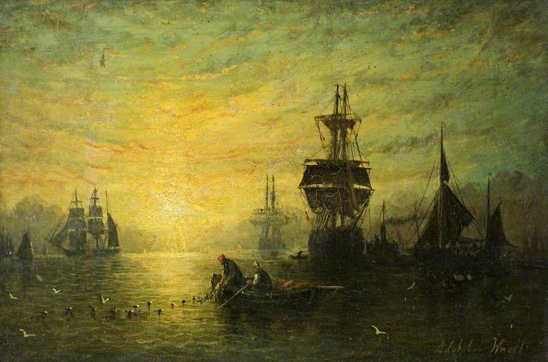 Sunset with Boats