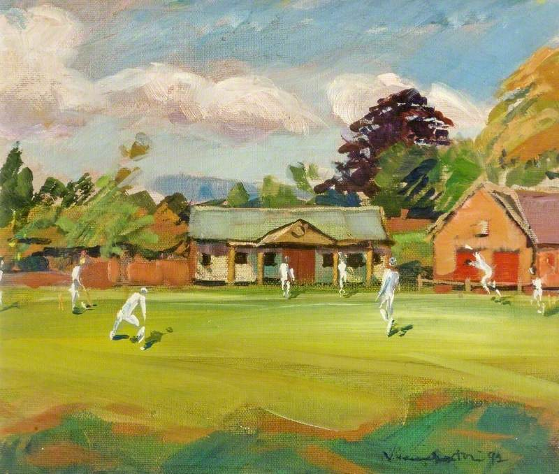Cricket at Frampton, Gloucestershire