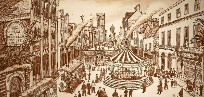 Barton Fair, Gloucestershire, c.1900