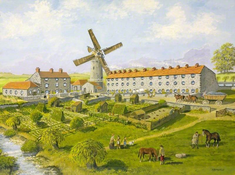 Reconstruction of William Champion's Site at Warmley, Gloucestershire, the Big House and Windmill