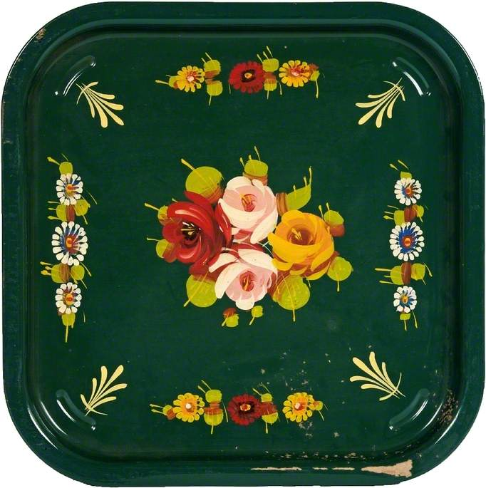 A Painted Ware Tray