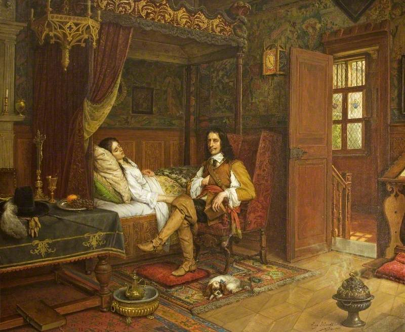 Cromwell at the Bedside of his Dying Daughter, Lady Claypole, at Hampton Court Palace, 1658