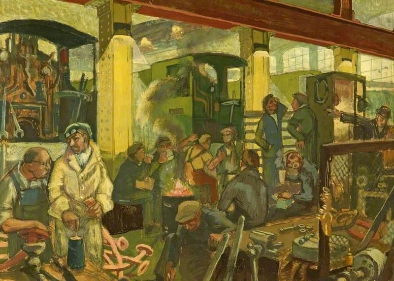 Scene in Great Western Railway Factory