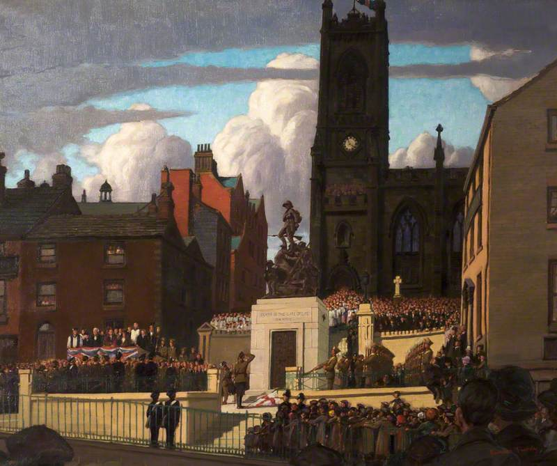 Unveiling of the War Memorial, Oldham, Lancashire, 28 April 1923