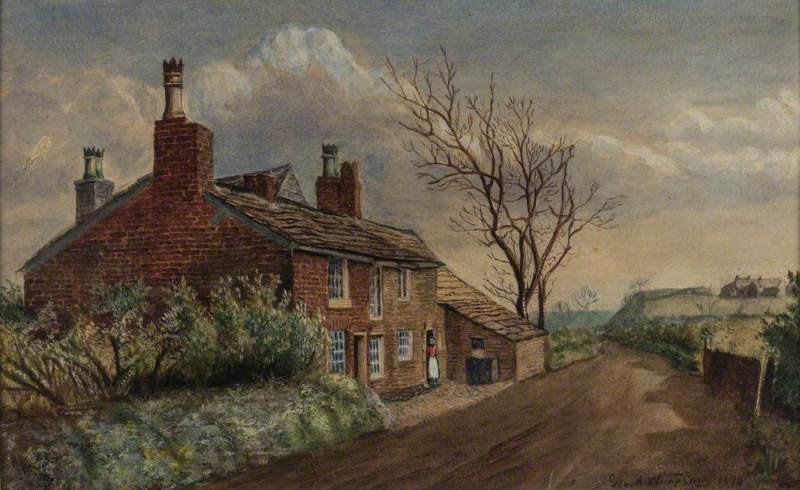 Pitses, Looking towards Alt – Showing the Birthplace of James Butterworth