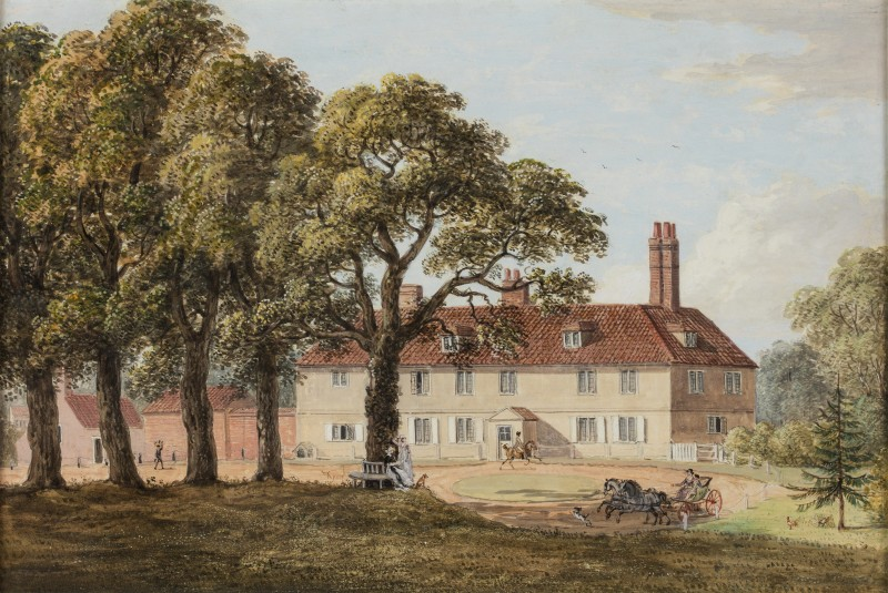Old House with Figures